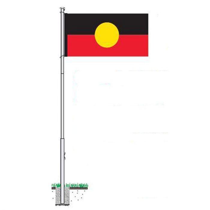 Aboriginal flag and Flagpole Kit