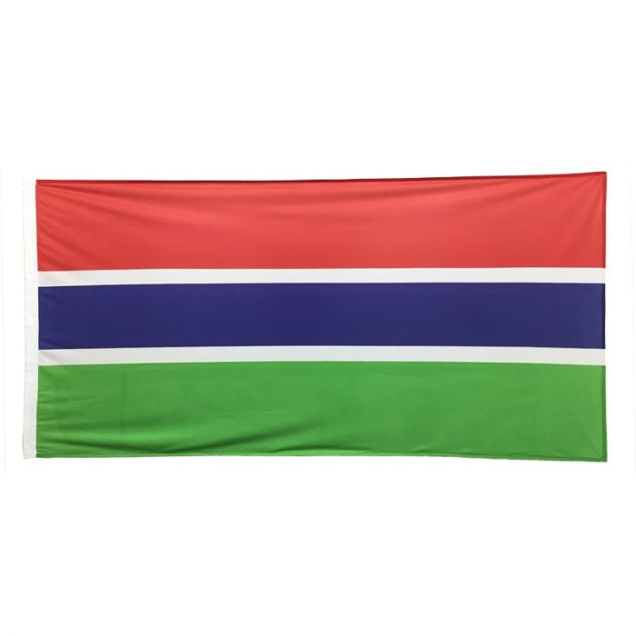 Gambian Flag 1800mm x 900mm (Knitted)