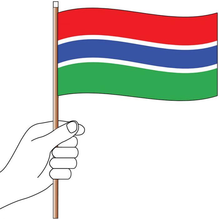 Gambia Hand Flag Handwaver