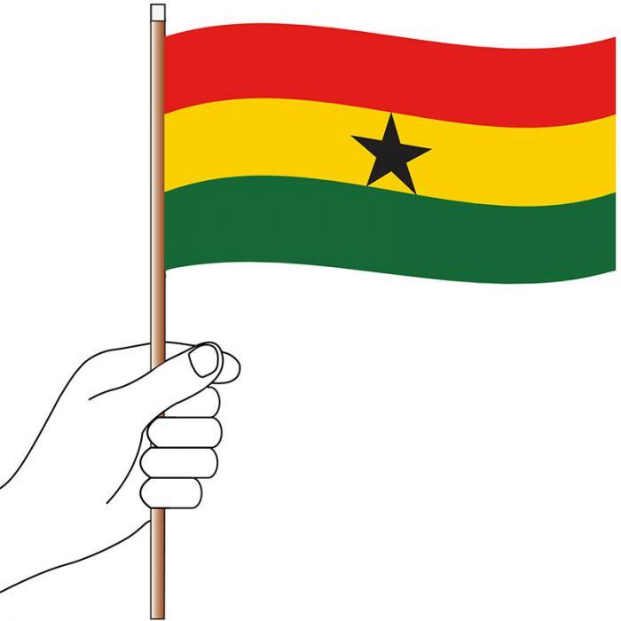 Ghana Hand Flag Handwaver