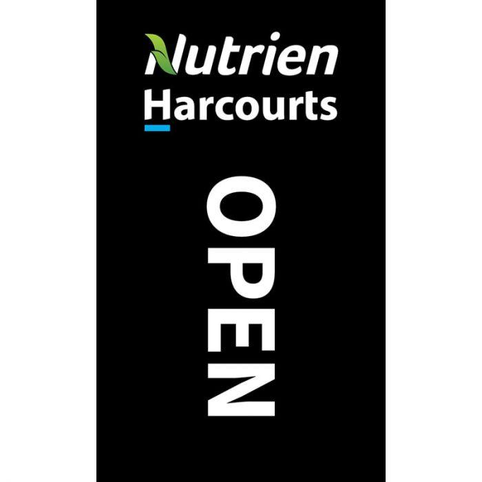 Nutrien Harcourts Open (2020) Black Flag 1800mm x 900mm