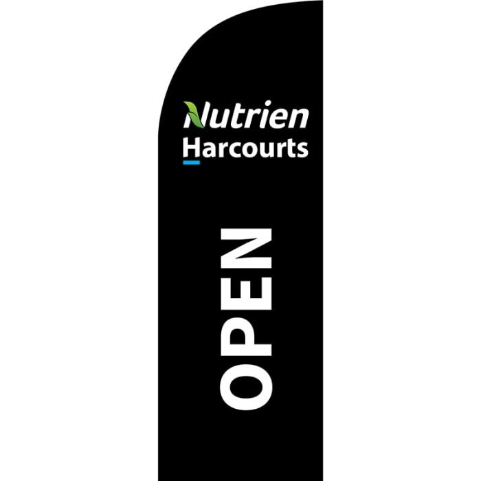 Nutrien Harcourts Open (2020) Black Small Feather Flag 650mm x 2000mm
