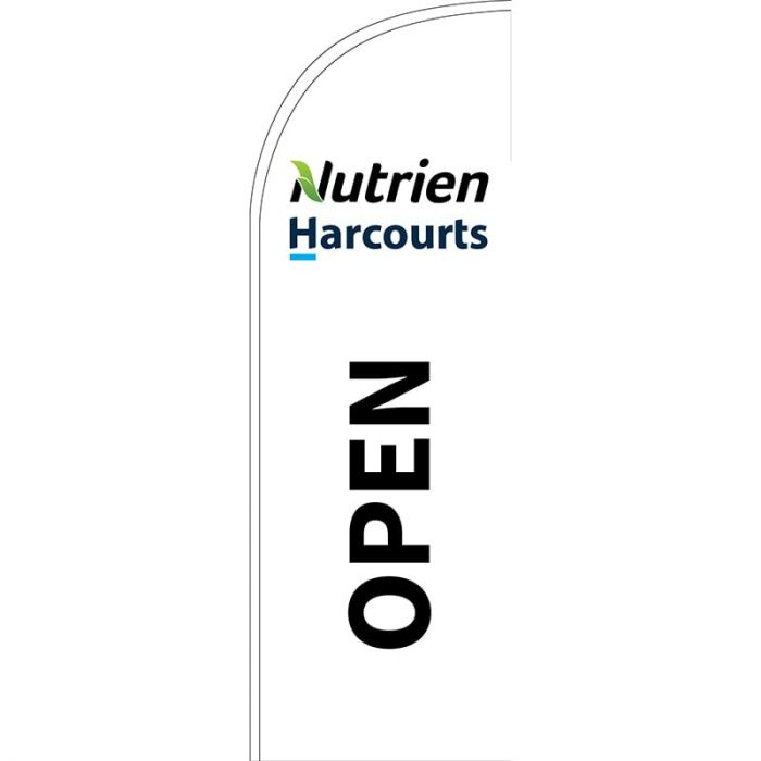 Nutrien Harcourts Open (2020) White Small Feather Flag 650mm x 2000mm