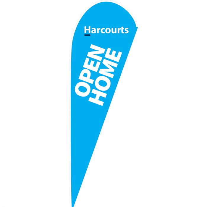 Harcourts Open Home Medium Teardrop Flag