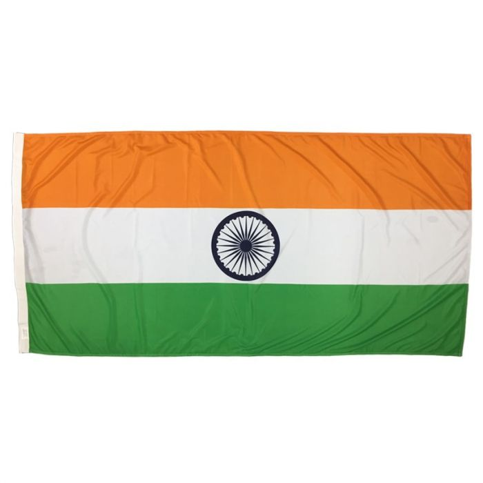 Indian Flag 1800mm x 900mm (Fully Sewn, Vertical Sleeve)