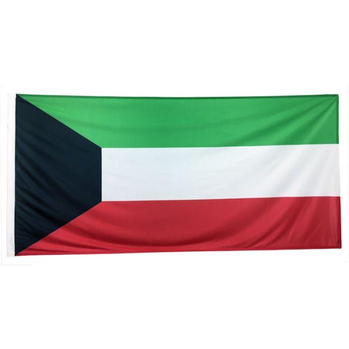 Kuwait Flag 1800mm x 900mm (Woven)