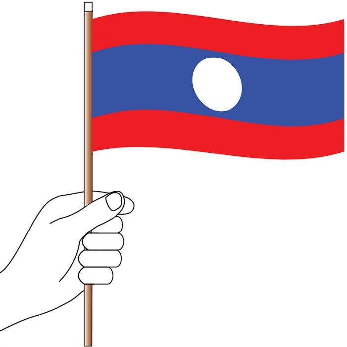 Laos Hand Flag Handwaver