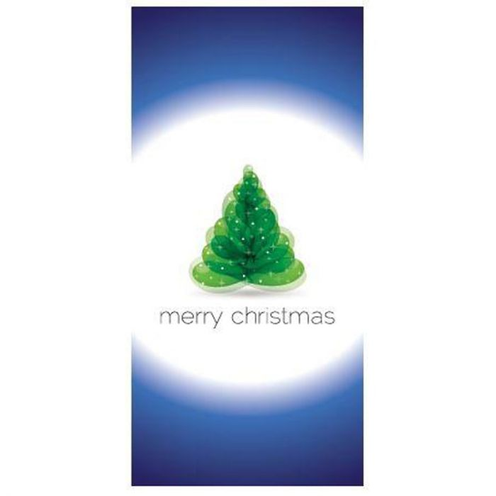 Merry Christmas Flag Blue and White Flag 900mm x 1800mm (Various Finishes)