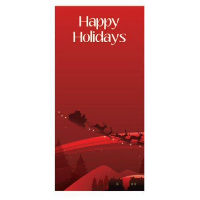 Happy Holidays Red Flag with Sleigh (66)