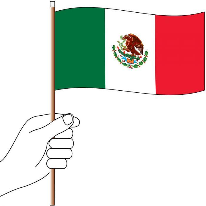 Mexico Hand Flag Handwaver
