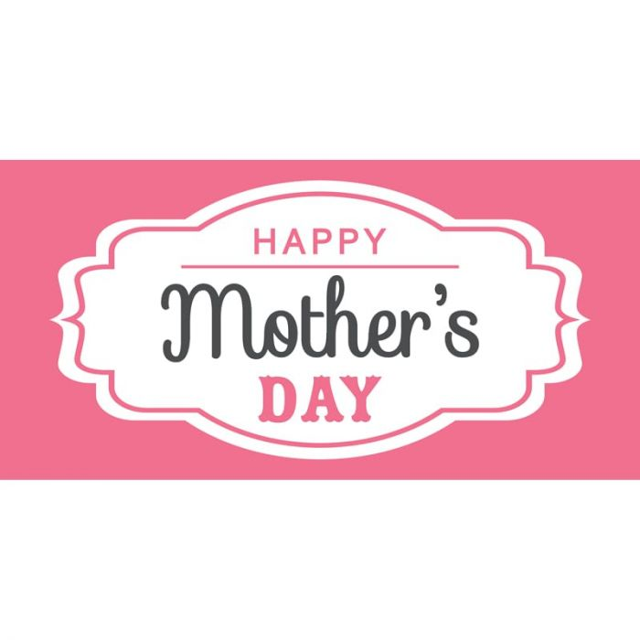 Mother's Day 2B Flag 1800mm x 900mm (Knitted)