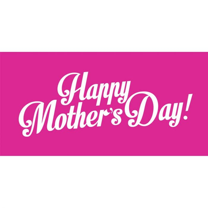 Mother's Day 3 Flag 1800mm x 900mm (Knitted)