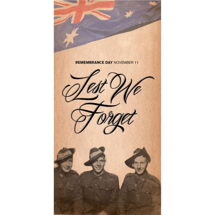 Remembrance Day Flag - Lest We Forget (1)
