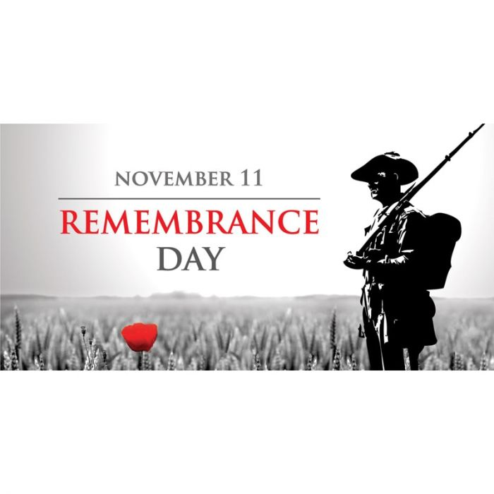 Remembrance Day Flag  - Soldier with Poppy  (20)
