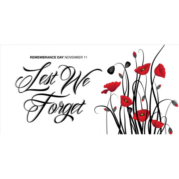Remembrance Day Flag  - Poppies Lest We Forget  (23)