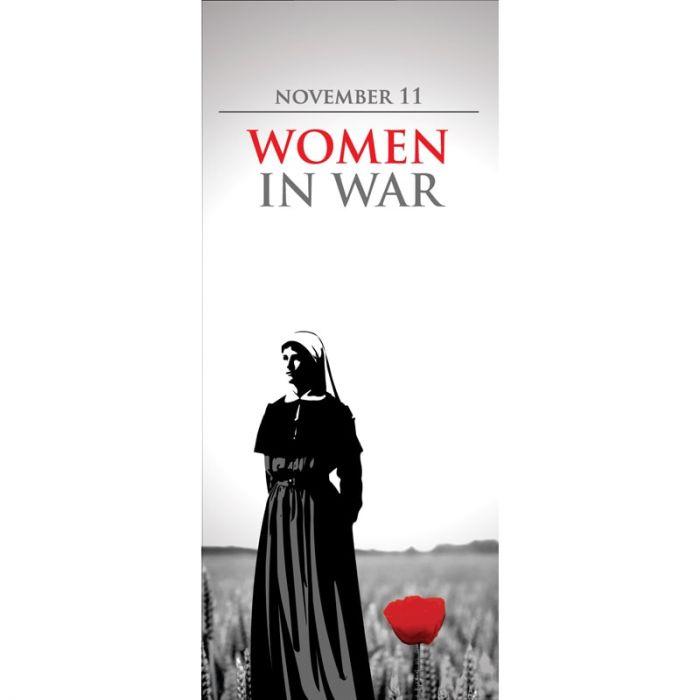 Women in War Flag - Nurse with Poppy (24)