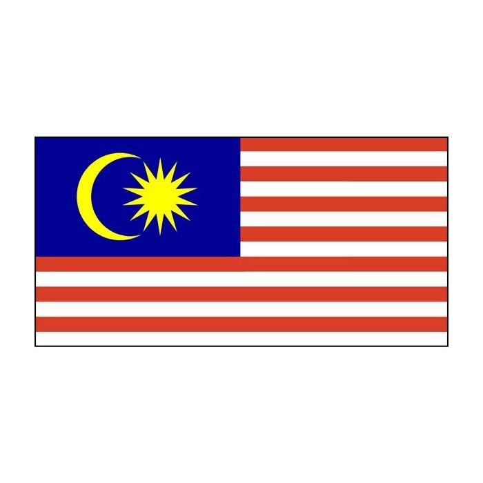 Malaysia hand sewn flag, Malaysia fully sewn flag