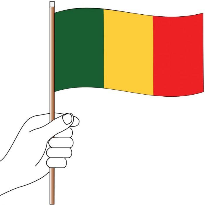 Mali Handwaver Flag 300mm x 150mm (Knitted)