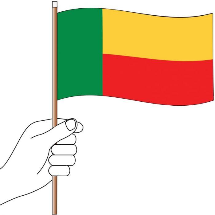 Benin Handwaver Flag 300mm x 150mm (Knitted)