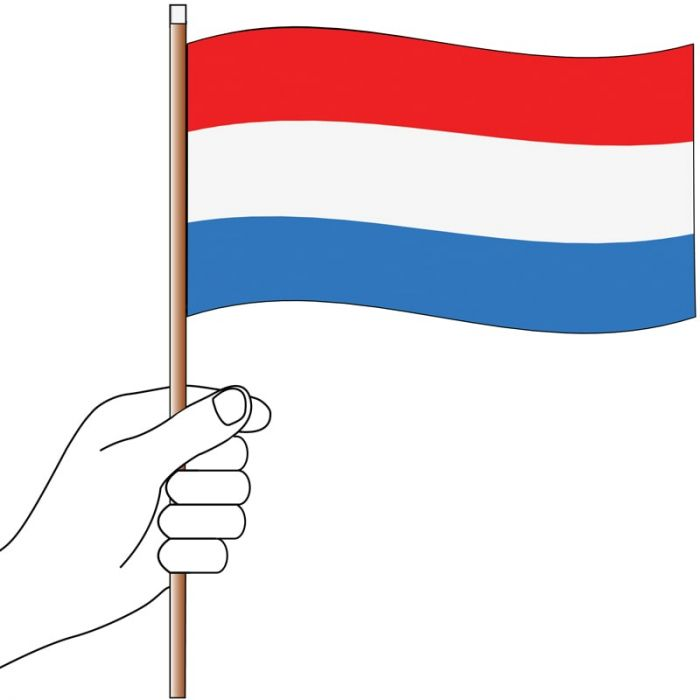 Luxembourgh Handwaver Flag 300mm x 150mm (Knitted)
