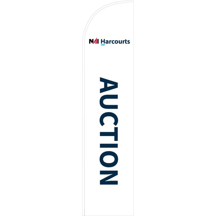 NAI Harcourts Auctions Feather flag
