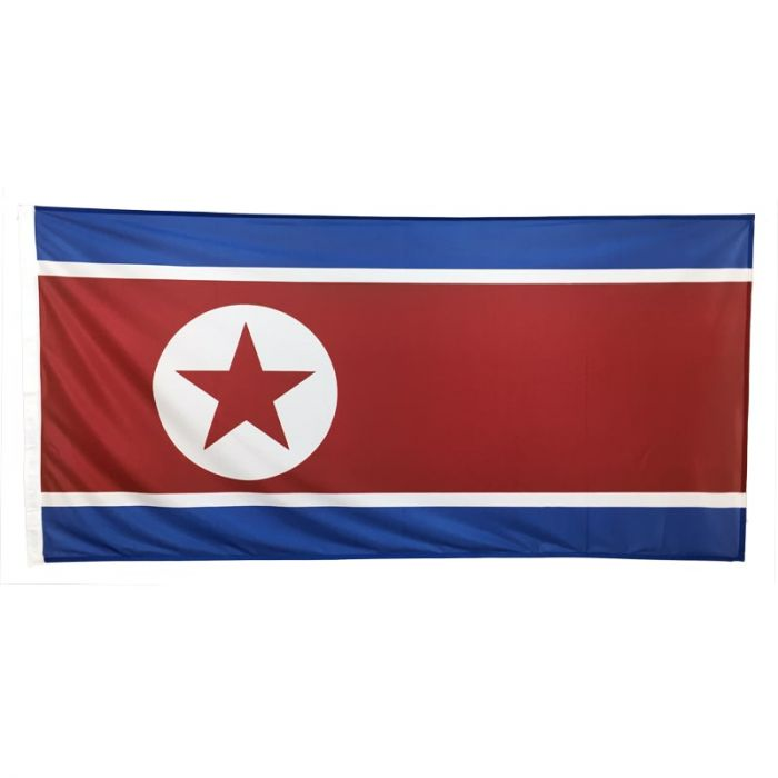North Korea Flag 1800mm x 900mm (knitted)