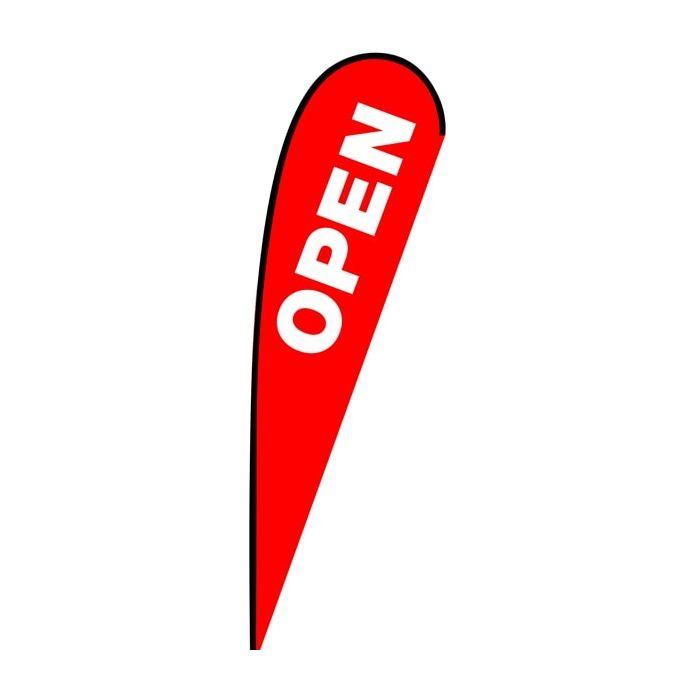 Open Medium Teardrop Flag