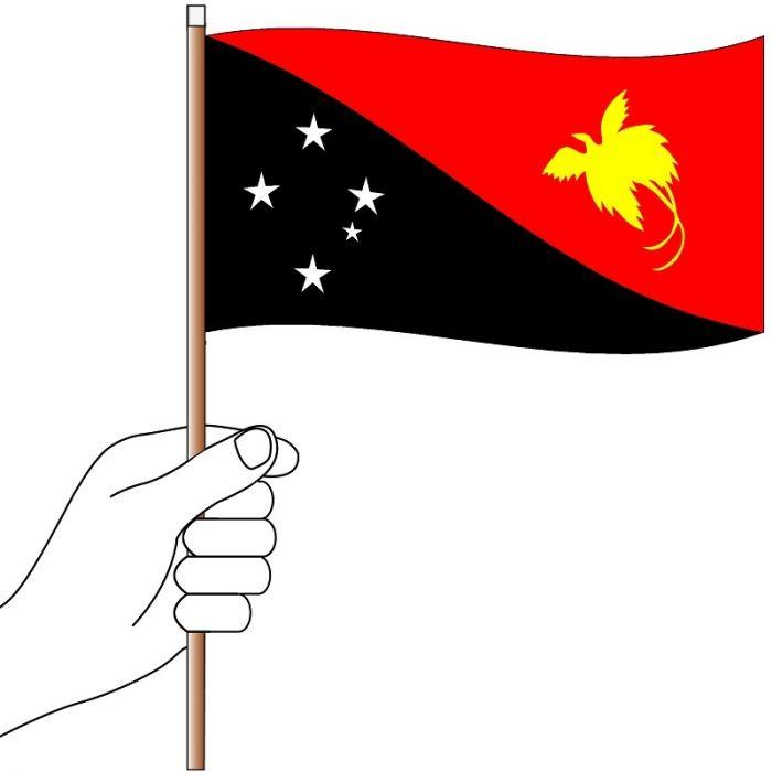 Papua New Guinea Hand Flag Handwaver