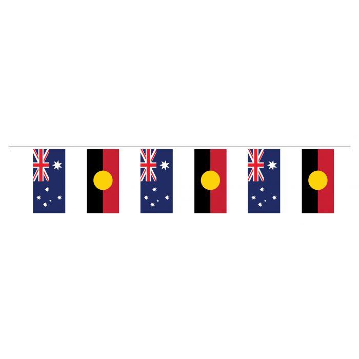 Australian/Aboriginal Plastic Bunting 10m