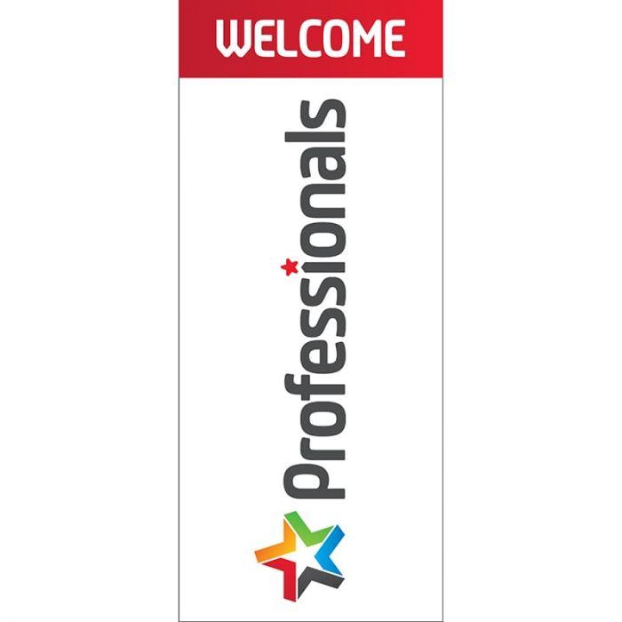 Professionals 'Welcome' Pull Up Banner