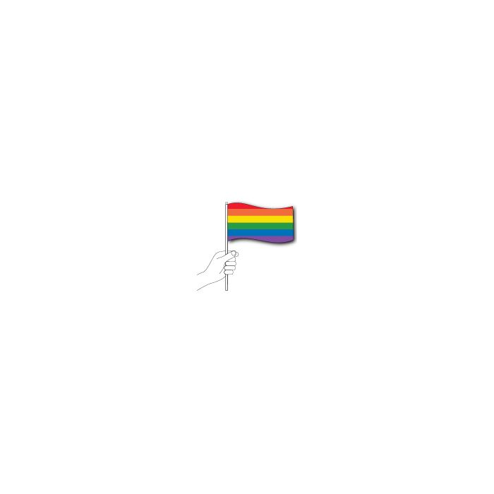 Rainbow Handwaver Flag