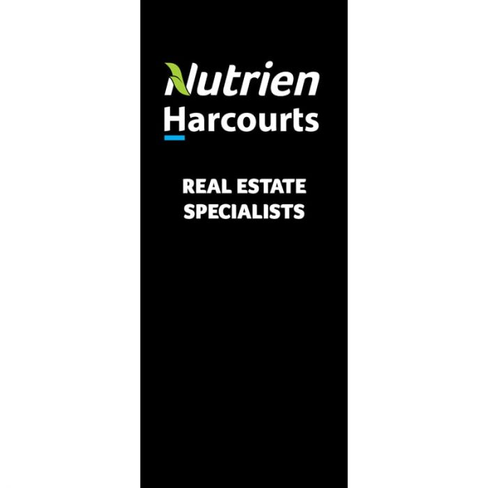 Nutrien Harcourts (2020) Black Pull Up Banner 850 x 2000mm Deluxe Base