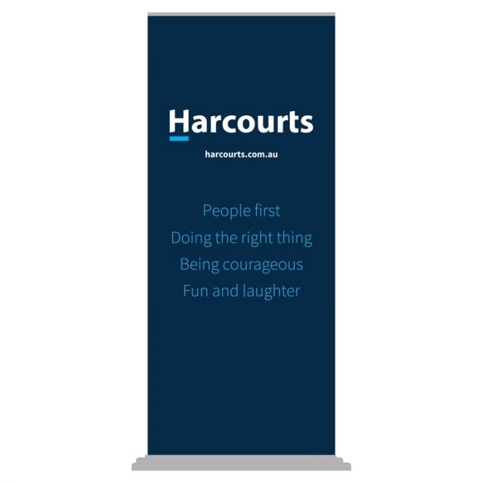 Harcourts Values Pull Up Banner