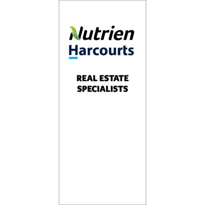 Nutrien Harcourts (2020) White Pull Up Banner Deluxe