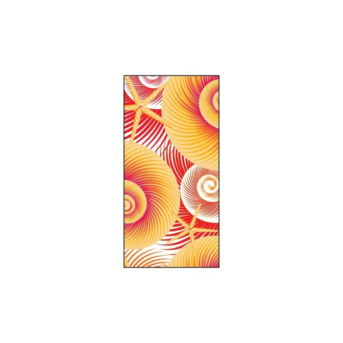 Summer Yellow Shells Flag 900mm x 1800mm (Knitted)