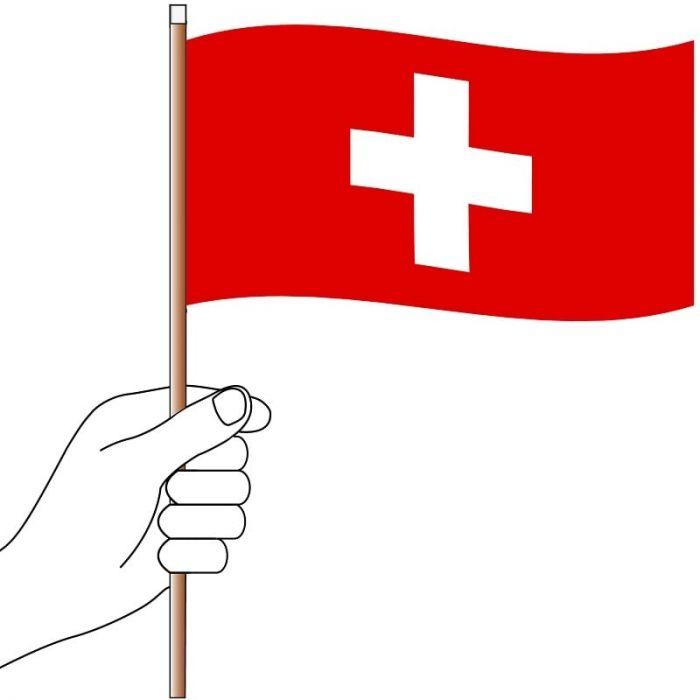 Switzerland Hand Flag Handwaver