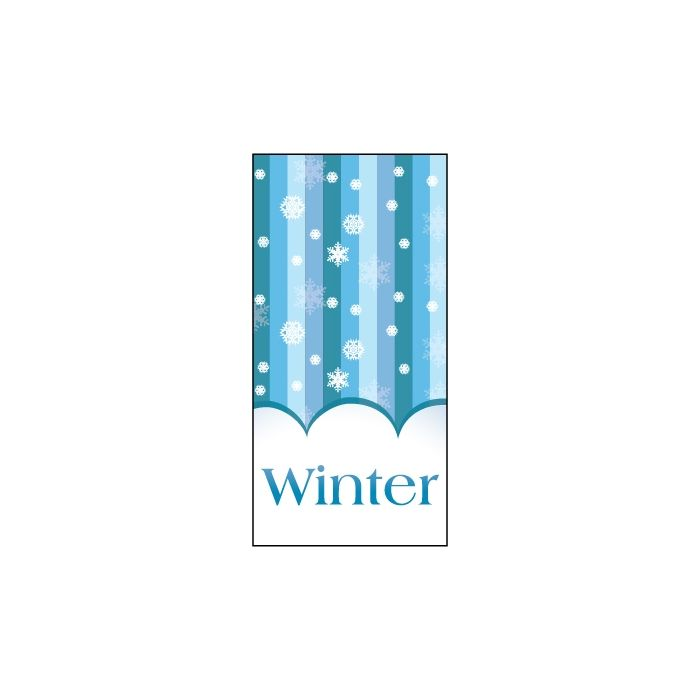 Winter Vertical Stripes  Flag 900mm x 1800mm (Knitted)