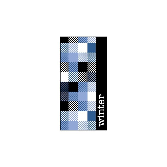 Winter Blue Patchwork Flag 900mm x 1800mm (Knitted)