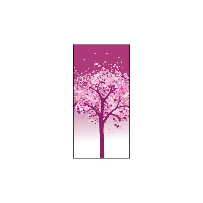 Winter Pink Tree  Flag 900mm x 1800mm (Knitted)