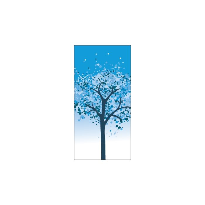 Winter Blue Tree  Flag 900mm x 1800mm (Knitted)