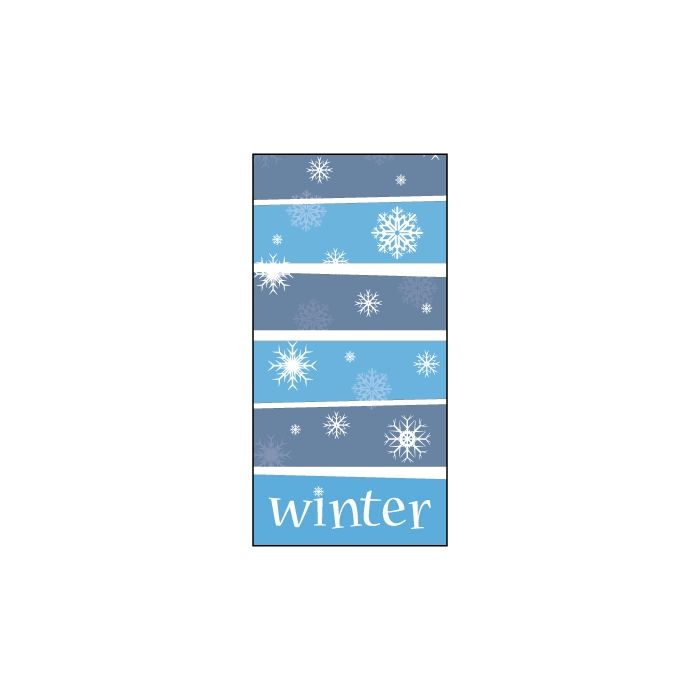 Winter Snowflakes Blue Stripes Flag 900mm x 1800mm (Knitted)