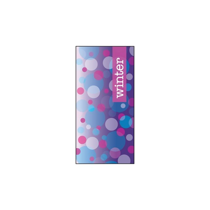 Winter Blue and Purple Dots Flag 900mm x 1800mm (Knitted)