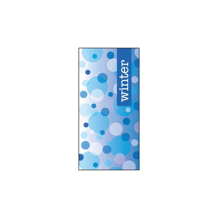 Winter Blue Dots Flag 900mm x 1800mm (Knitted)
