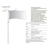 12m Flagpole Internal Halyard