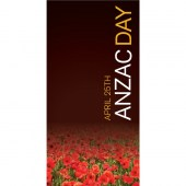 Anzac Day Flag - Poppies on Dark Background (35)
