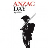 Anzac Day Flag - Soldier on White Background (36)