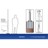 6m Flagpole with Internal Halyard