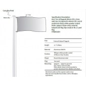6m Flagpole with External Halyard