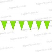 Pennant Bunting Fluoro Green No 16