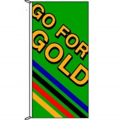 Go for Gold (Stripes) Flags